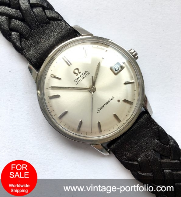 Vintage Silver Sunburst Dial Omega Seamaster