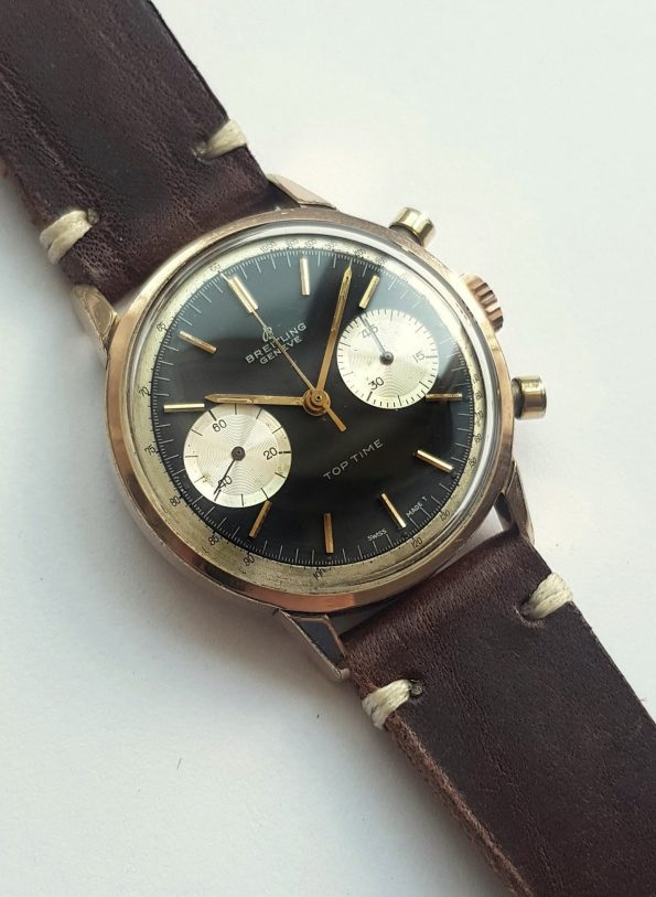 Pink gold plated Breitling Top Time Vintage Reverse Panda