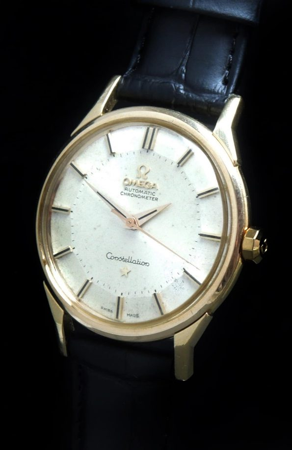 Solid Gold Omega Constellation Automatic Pie Pan