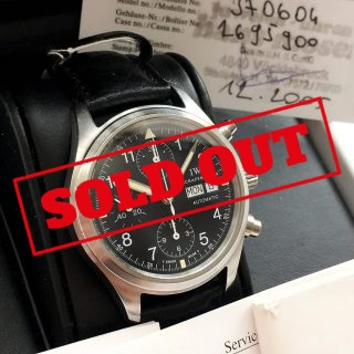 Serviced IWC Flieger Chronograph Full Set Automatic