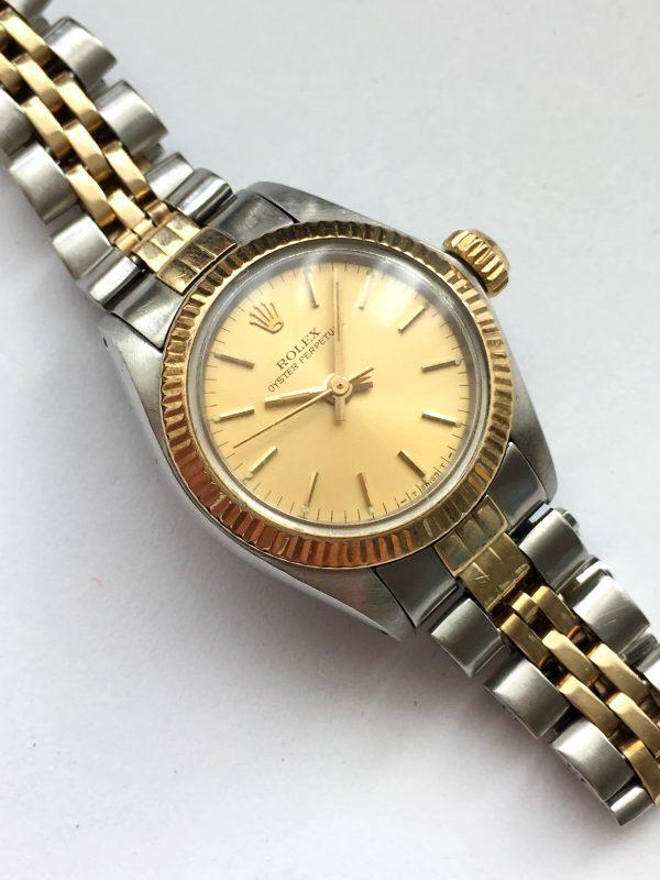 Original Rolex Lady Datejust Steel Gold Automatic