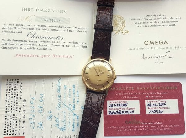 Full Set Omega Constellation Automatik Vollgold