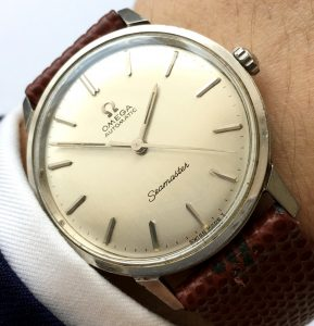 Unpolished Omega Seamaster Automatic Steel Linen Dial