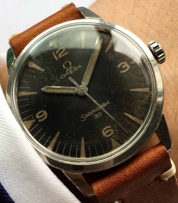 Extremely Rare Military Omega Seamaster 30 PAF
