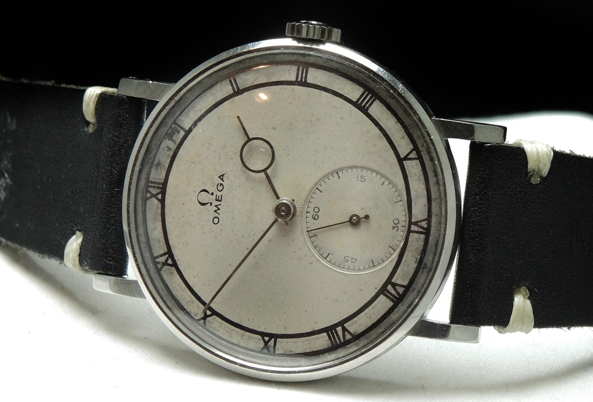 Early Omega Vintage Oversize Jumbo 38mm white 30t2
