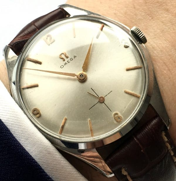 Great Omega Oversize Jumbo 38mm Steel Explorer Dial Vintage