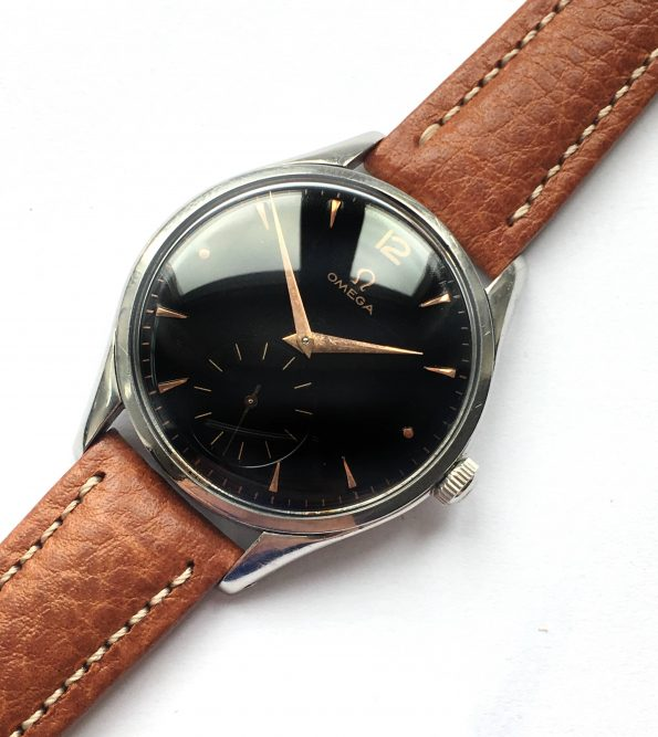Wonderful Omega 38mm Oversize Jumbo Vintage Black Dial