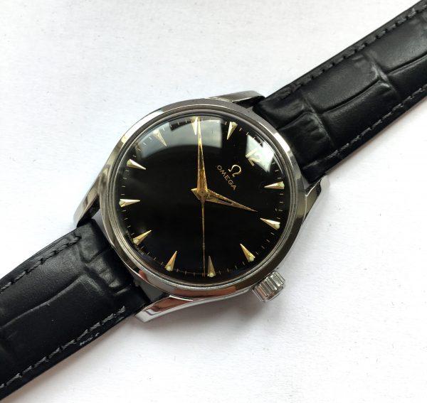 Black Dialed 36mm Omega Vintage Watch