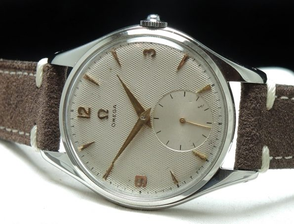 Omega Oversize Jumbo 38mm Steel Explorer Dial Honeycomb