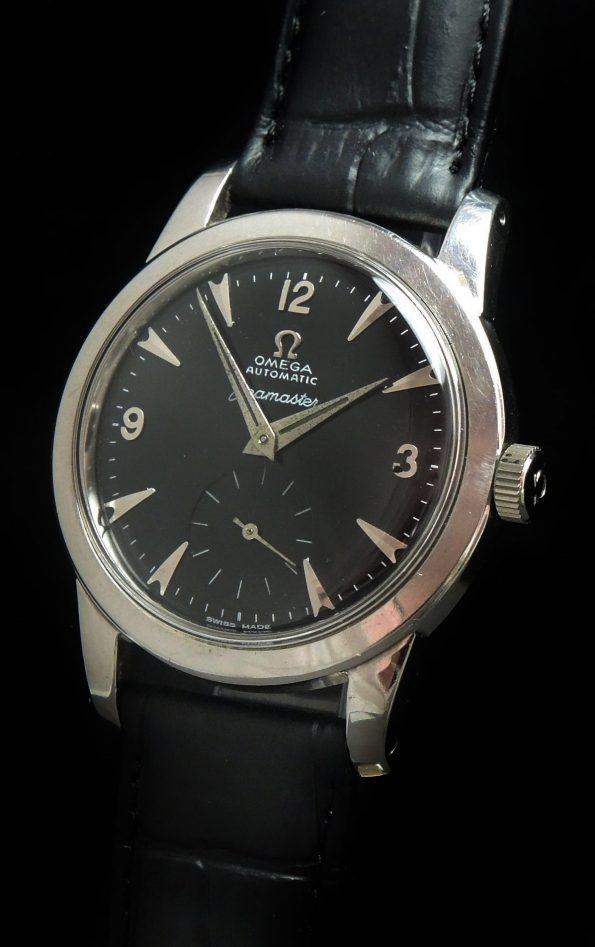 Restored Omega Seamaster Automatic Calatrava black dial