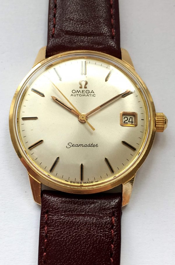 Outstanding Solid 18k Yellow Gold Omega Seamaster