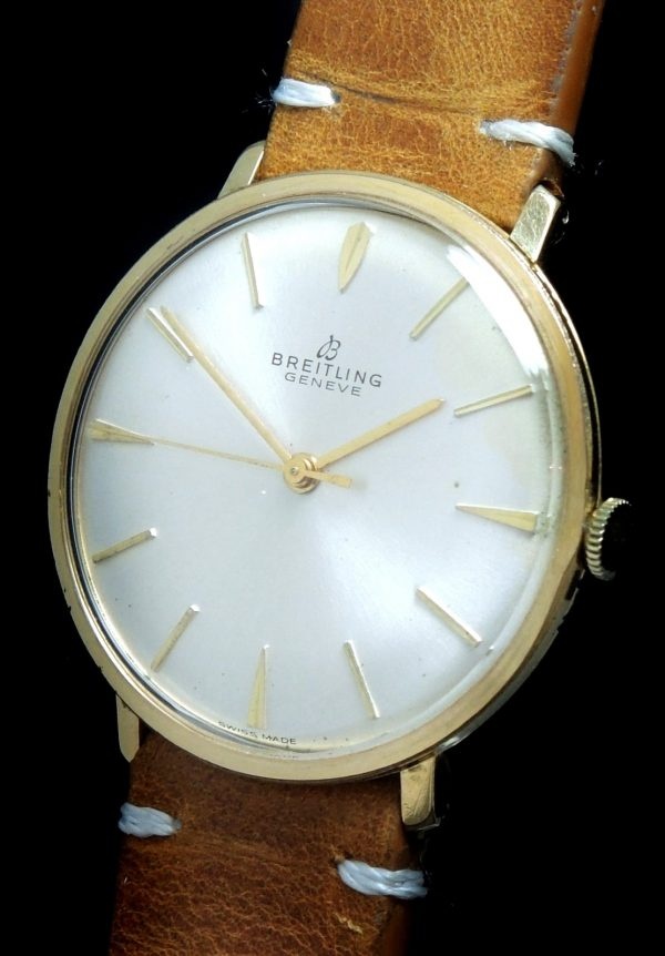 Vintage Breitling 34mm gold plated