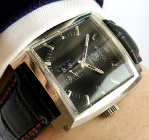 Genuine Tag Heuer Monaco 2110 Black Dial