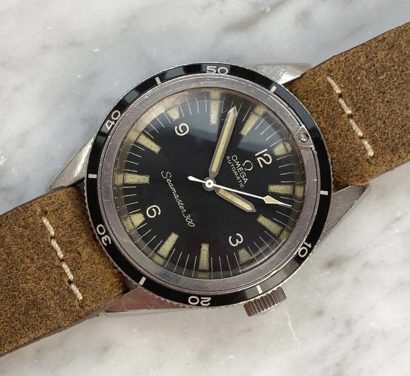 TRANSITIONAL Omega Seamaster 300 Vintage Diver ref 14755-1 mit Archivauszug