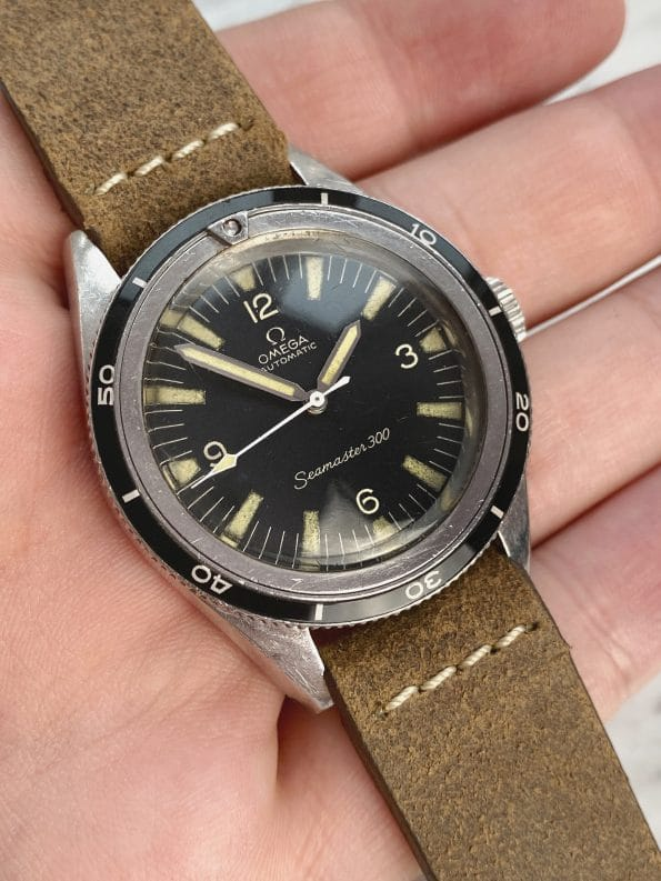 TRANSITIONAL Omega Seamaster 300 Vintage Diver ref 14755-1 with EXTRACT
