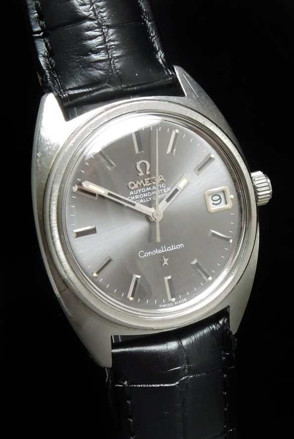 Beautiful Vintage Anthracite Dial Omega Constellation Date