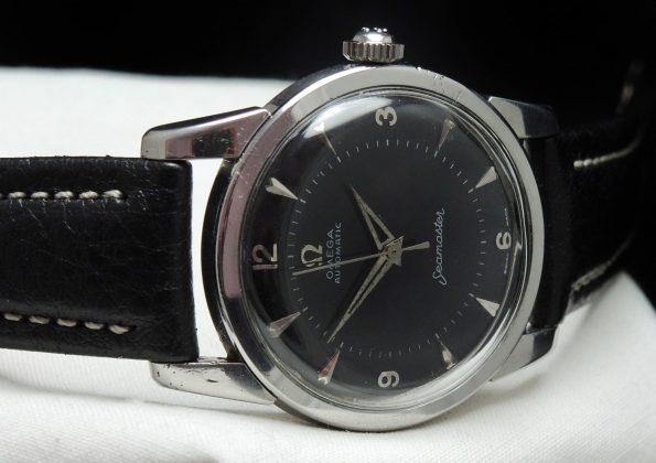 BIG SEAHORSE Omega Seamaster Automatic Vintage Black Dial