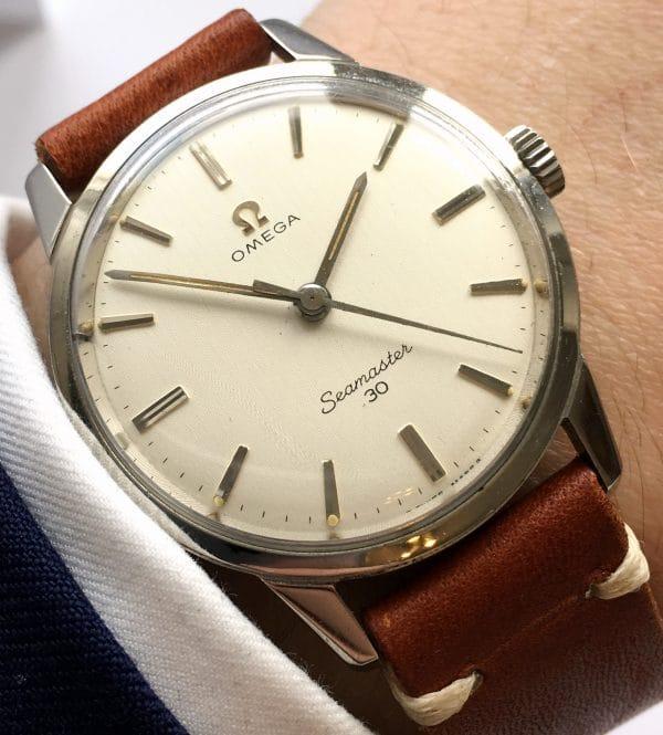 Fantastic Linen Dial Omega Seamaster 30