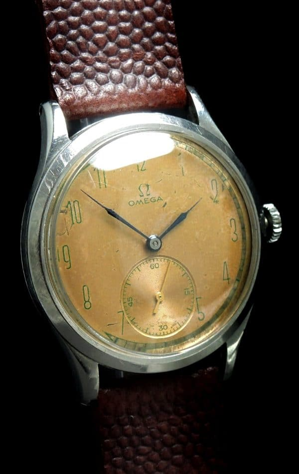 Great Omega Vintage Oversize Jumbo 37mm white 30t2
