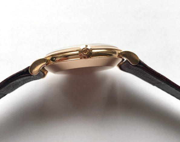 Superrare Omega Bumper Solid Pink Gold BEST ART DECO