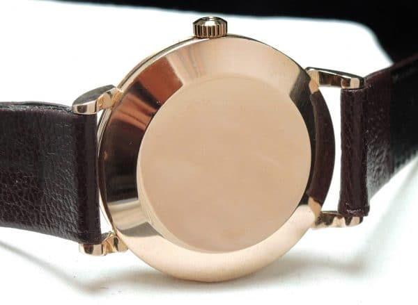 Superrare Solid Pink Gold Art Deco Omega Bumper