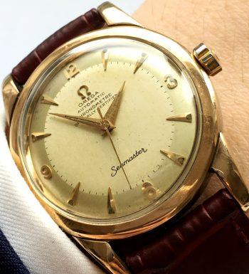 [:en]Extremely Rare Omega Seamaster Chronometer Ref 2577[:de]Extrem seltene vergoldete Omega Seamaster Chronometer 2577[:]