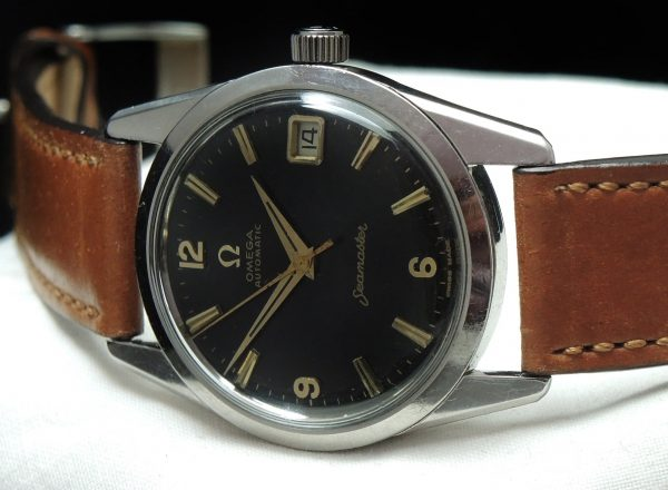 Vintage Omega Seamaster Automatic Date Black Dial