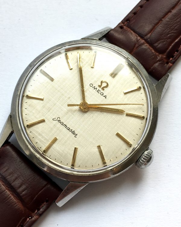 Omega Seamaster with Textured Linen Dial