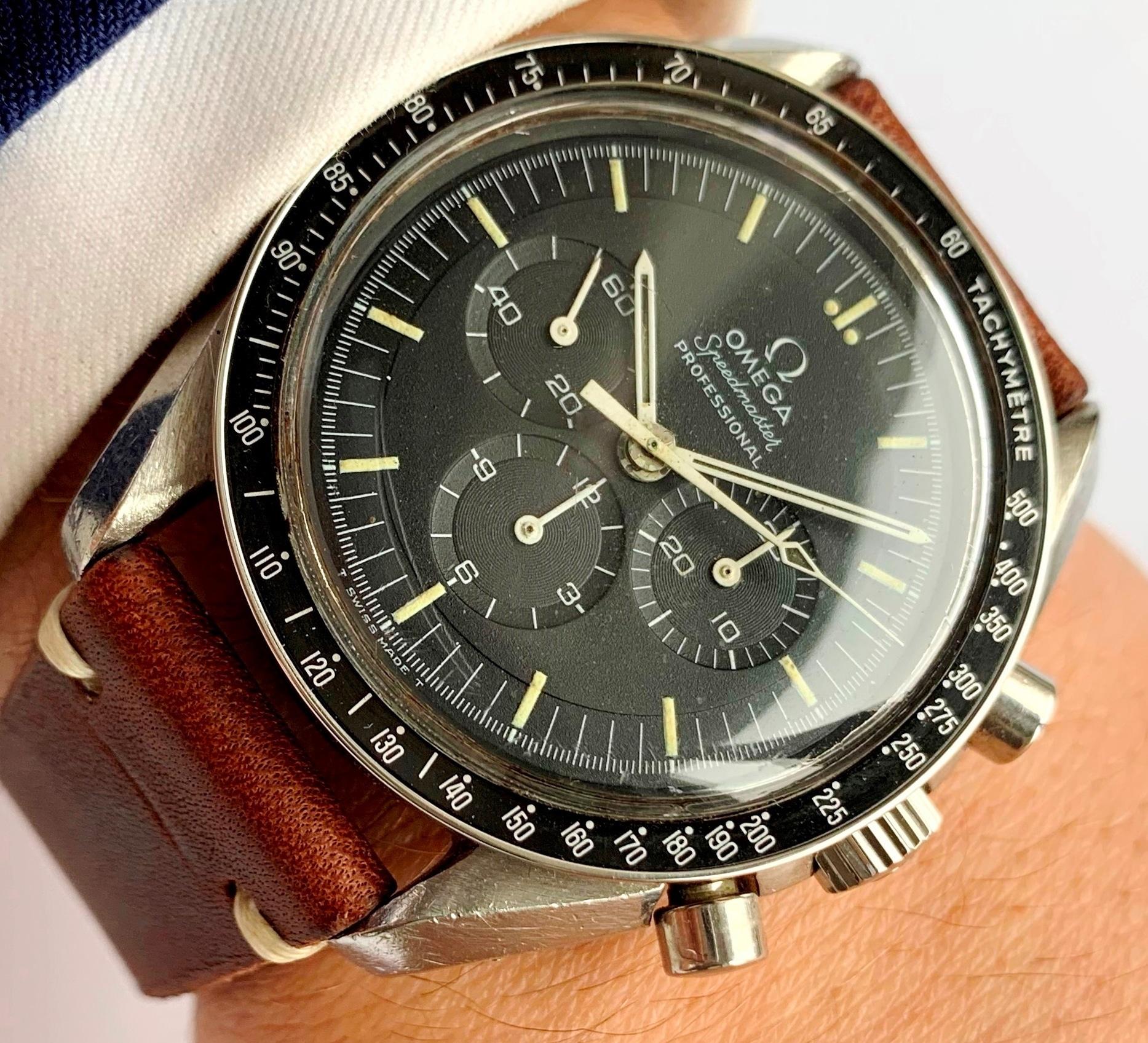 Unpolished Omega Speedmaster Vintage Moonwatch cal 861