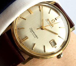 [:en]Stunning Vintage Omega Seamaster Date with Linen Dial[:de]Superschöne Vintage Omega Seamaster mit Leinen Ziffernblatt[:]