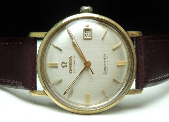 Stunning Vintage Omega Seamaster Date with Linen Dial