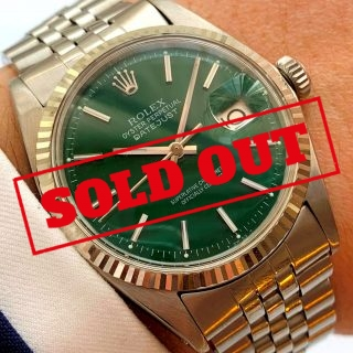 Serviced Rolex Datejust Automatic green dial