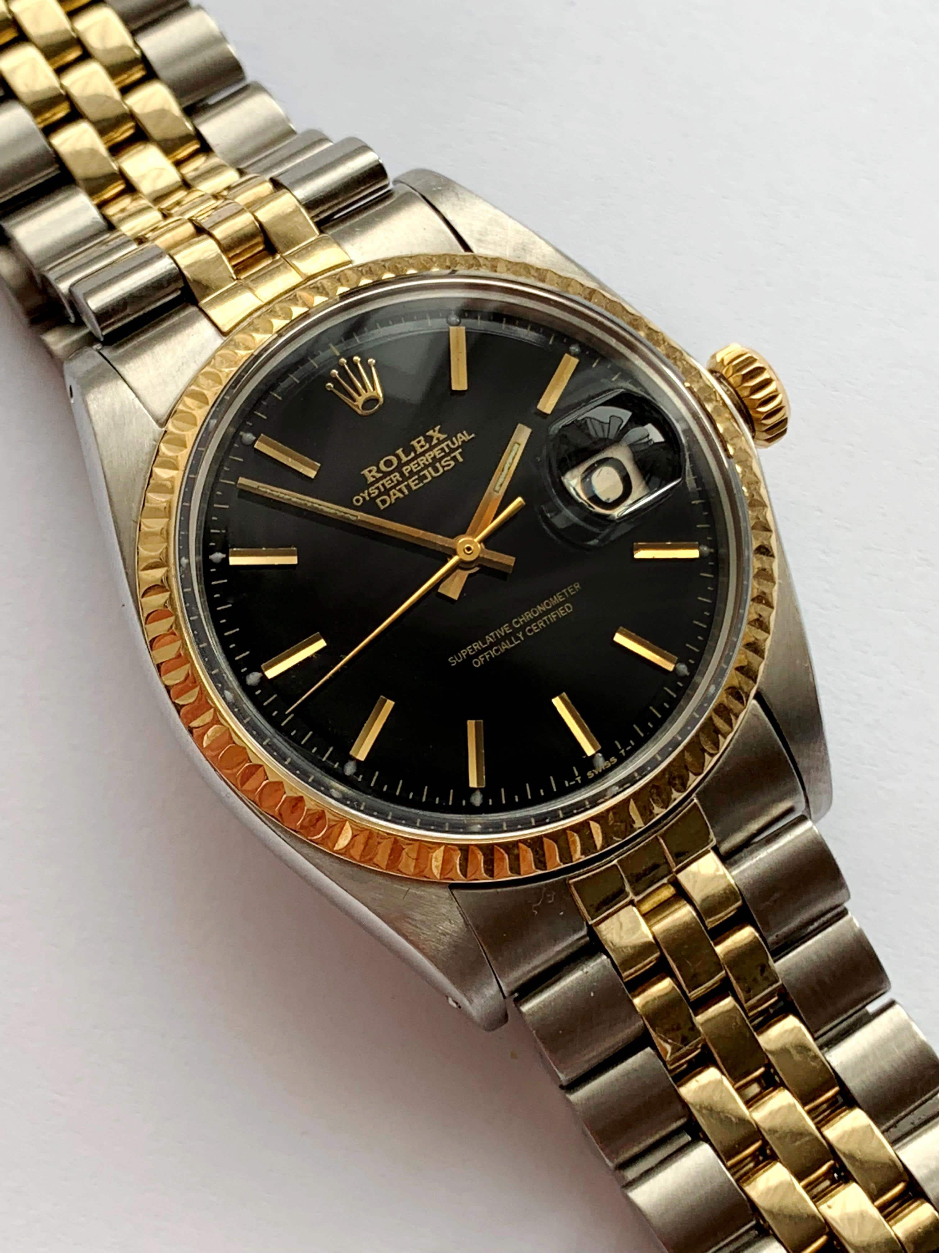 restaurierte rolex datejust 36mm stahl gold jubilee. Black Bedroom Furniture Sets. Home Design Ideas