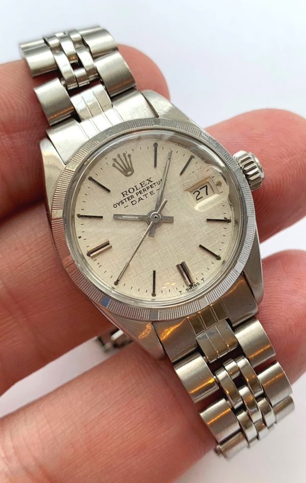 Perfect Rolex Ladies Date Automatic Linen Dial