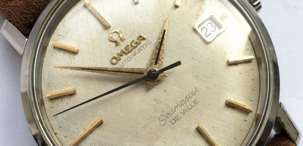 Monocase Omega Seamaster De Ville Crosshatch Linen Dial