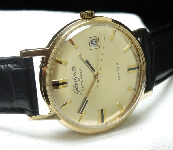 1969 Glashütte Spezimatik Automatic golden dial