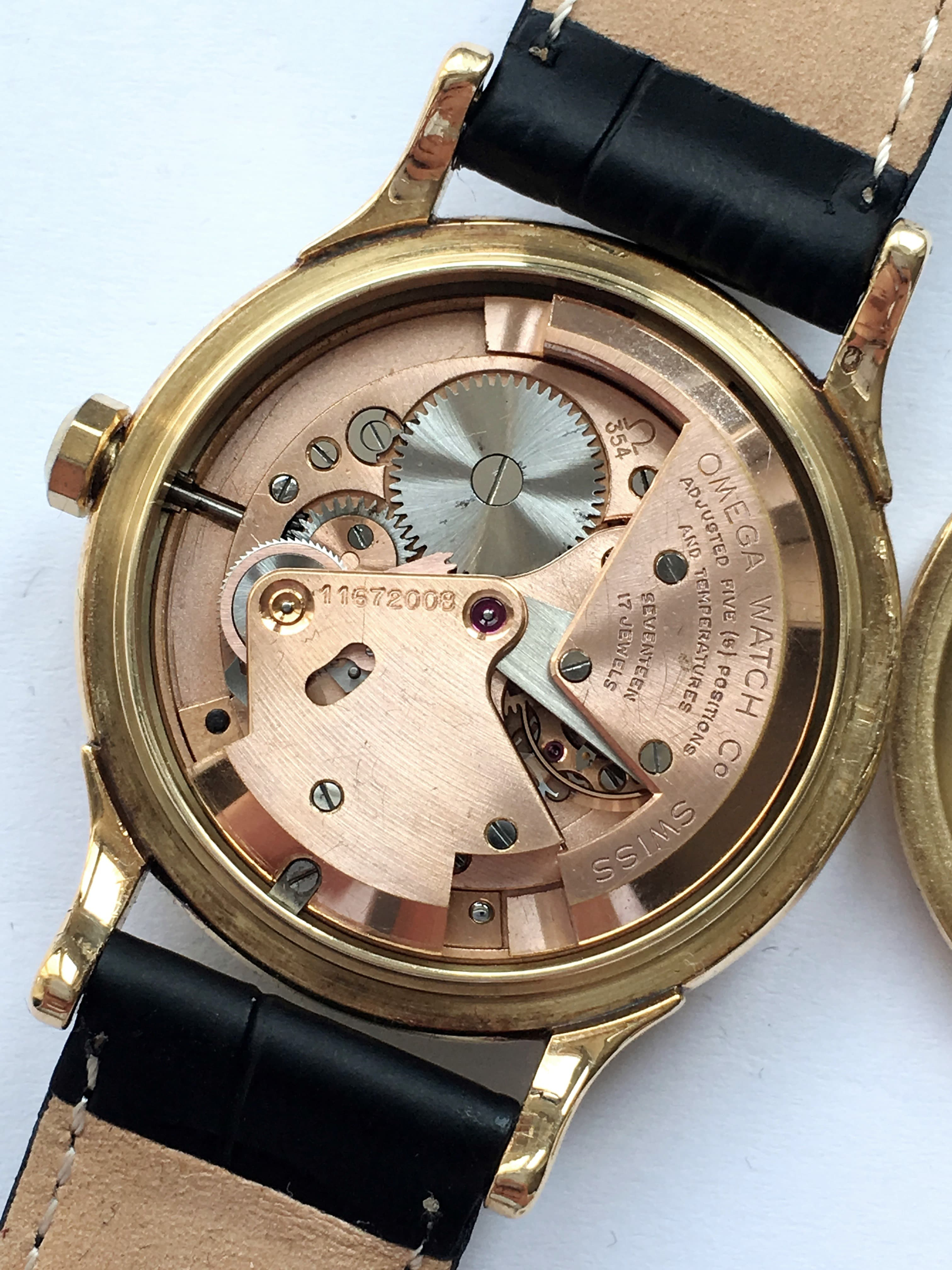 Vintage Solid 14k yellow gold Omega Constellation Automatic