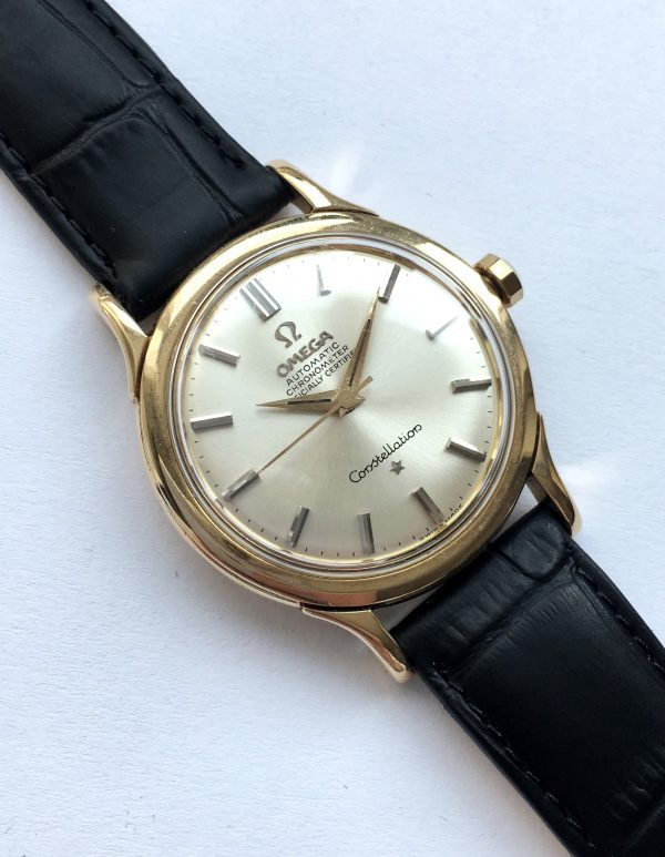 Vintage Solid 14k yellow gold Omega Constellation
