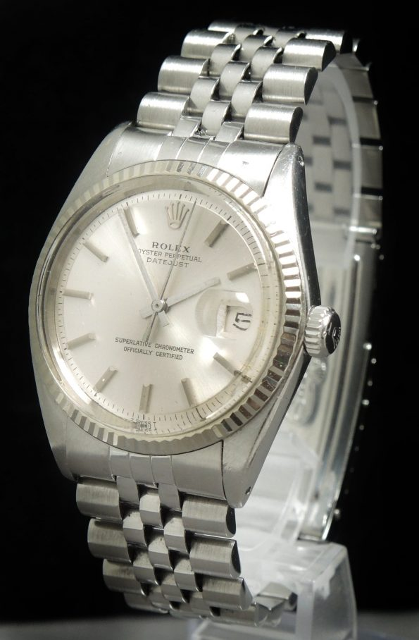 Serviced Rolex Datejust 36mm Steel silver dial