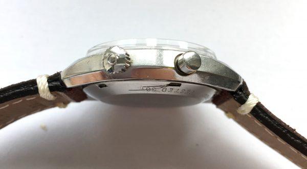 Vintage Omega Chronostop Racing White Dial