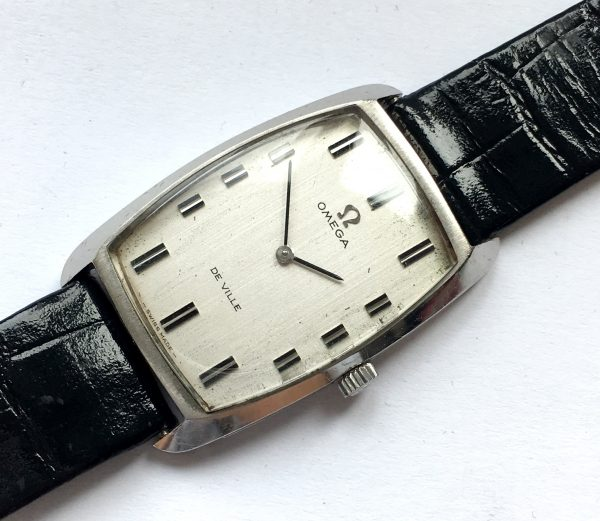 Great Omega De Ville Tank Ladies Watch Linen Dial