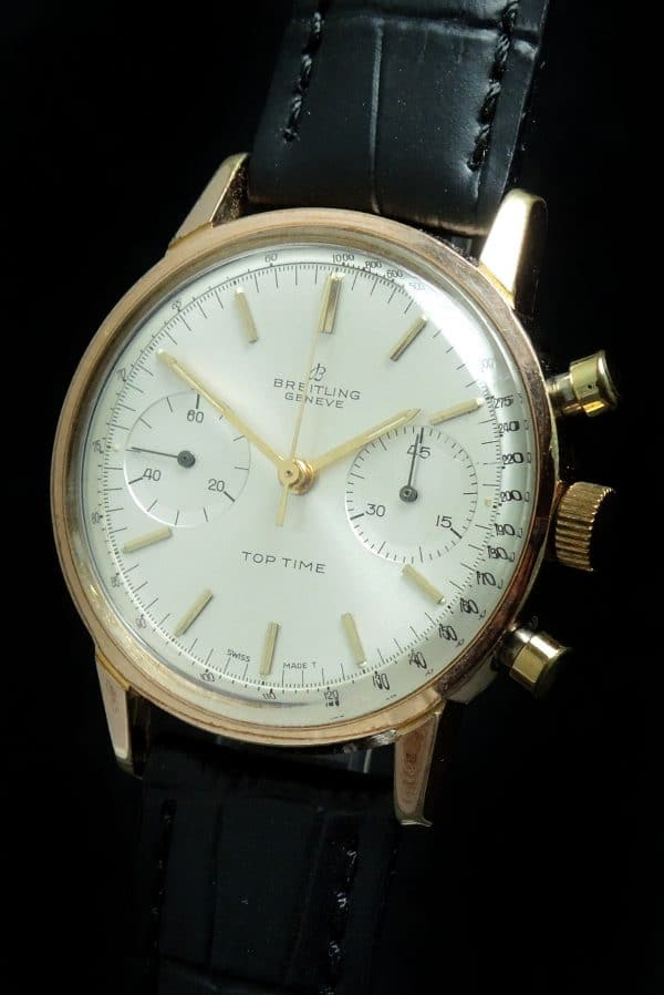 Vintage Breitling Top Time 36mm Chronograph ROSE gold plated
