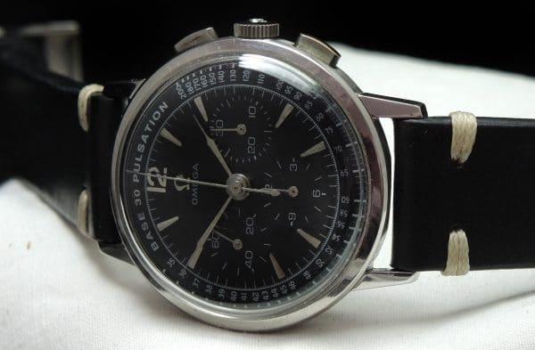 Rare Omega De Ville Chronograph Vintage Steel Caliber 321