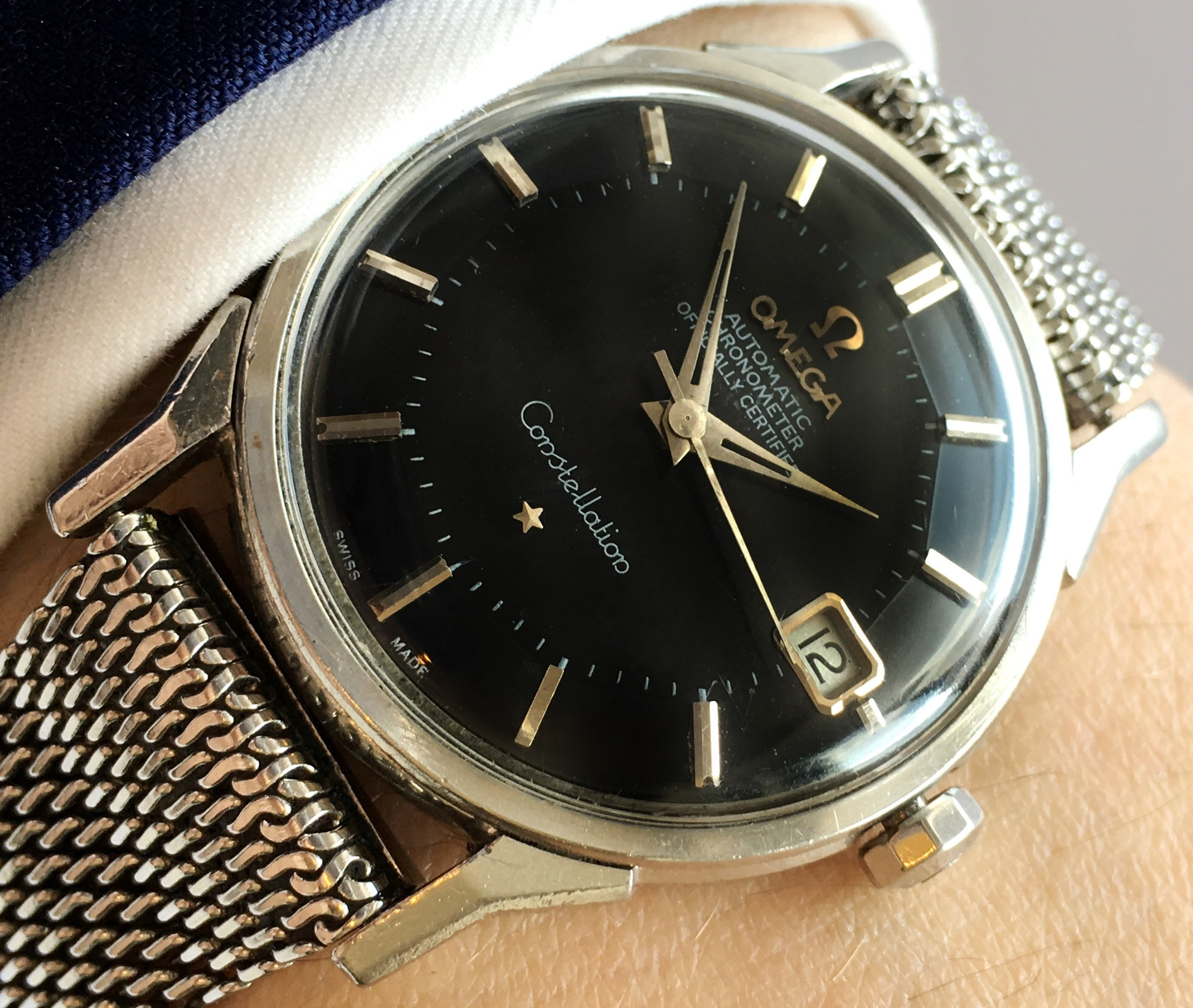 Omega Constellation Automatic Pie Pan Black Dial