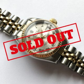 Original Rolex Lady Datejust Steel Gold Automatic