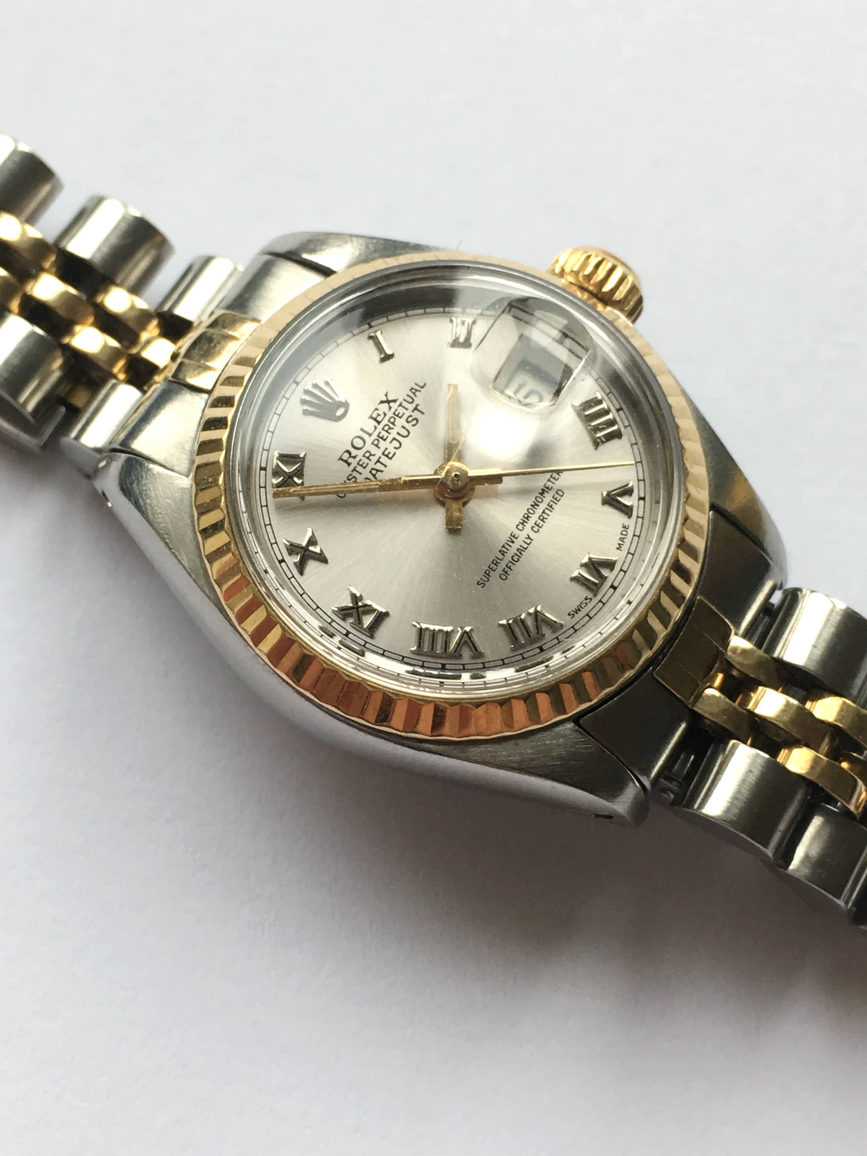original rolex damen datejust stahl gold automatik. Black Bedroom Furniture Sets. Home Design Ideas