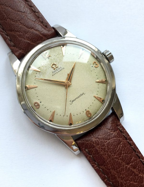 Honeycomb Dial Omega Seamaster Bumper Automatic 36mm