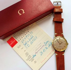 [:en]Gold Plated Omega Seamaster Automatic DeVille Box Papers[:de]Vergoldete Omega Seamaster Automatik DeVille Box Papiere[:]