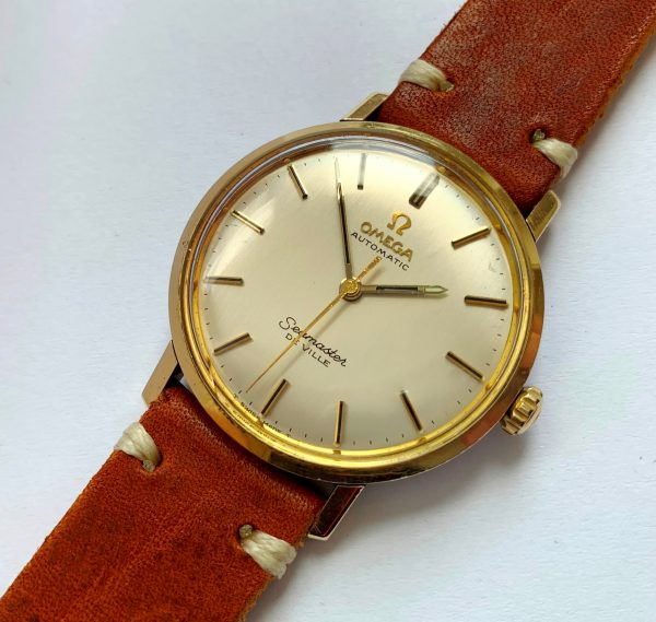 Gold Plated Omega Seamaster Automatic DeVille Box Papers