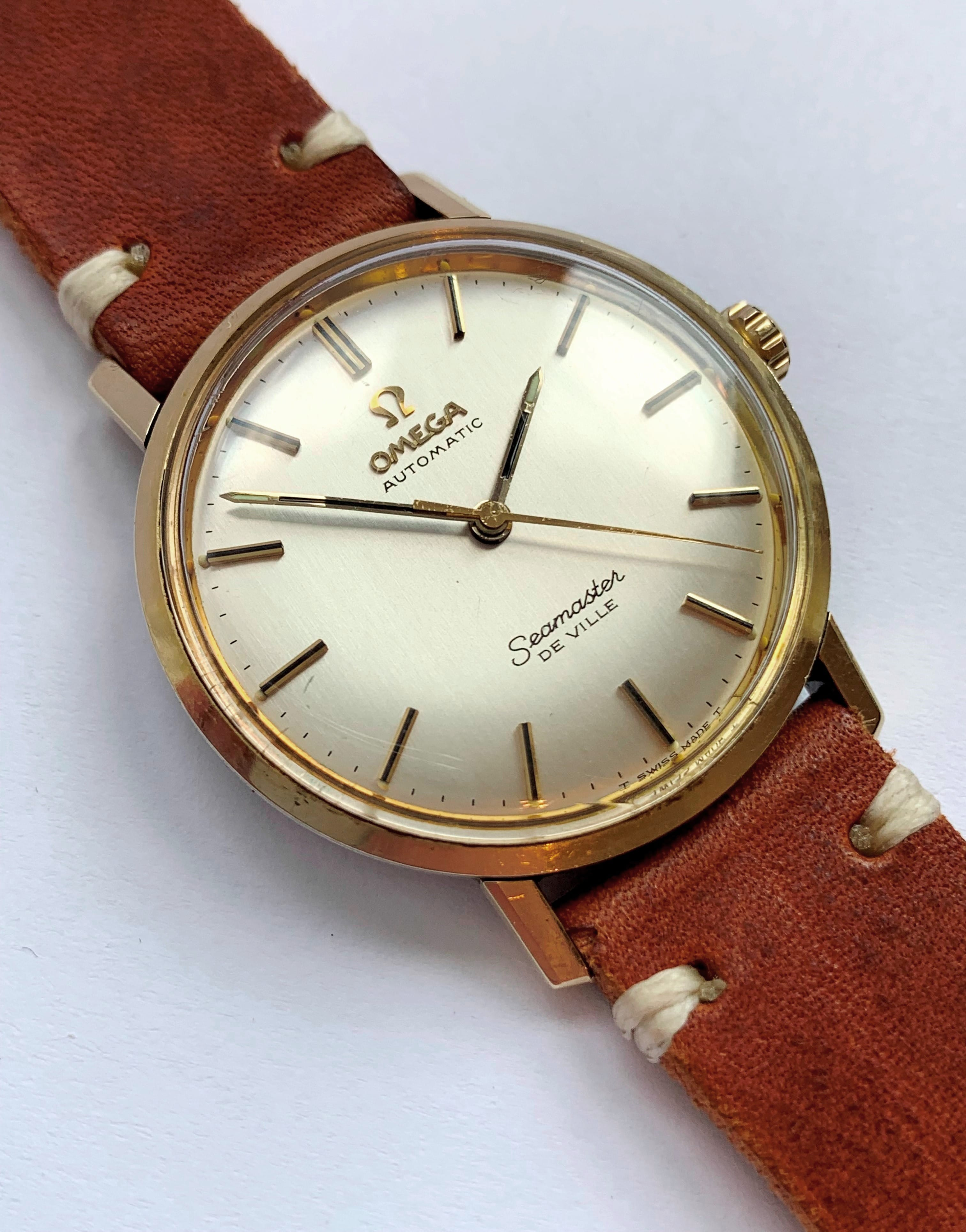Gold Plated Omega Seamaster Automatic De Ville Box Papers